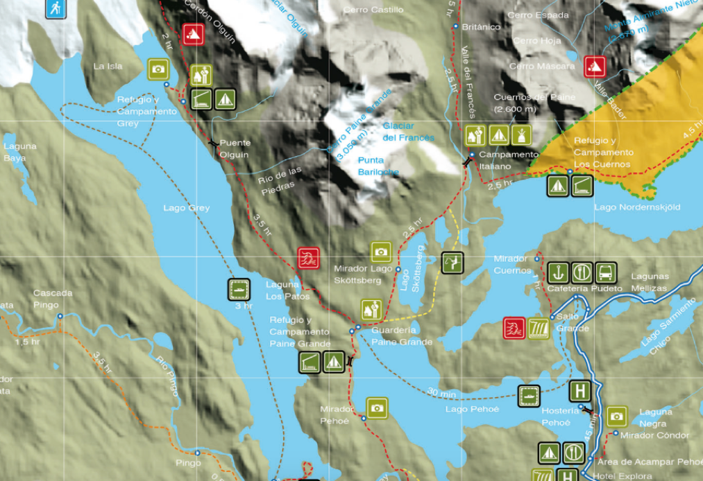 Glacier Point Hike Map
