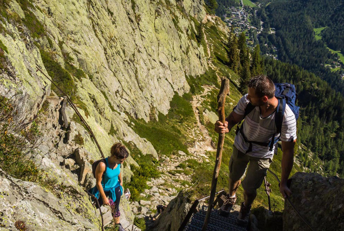 Ladders on Tour du Mont Blanc