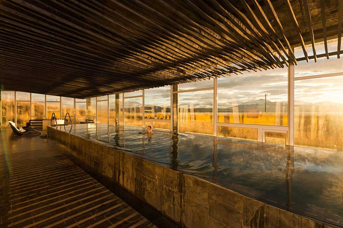 SPA at Hotel Remota in Puerto Natales, Chilean Patagonia